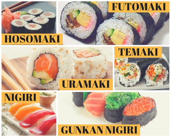 Tipi di sushi: maki e nigiri